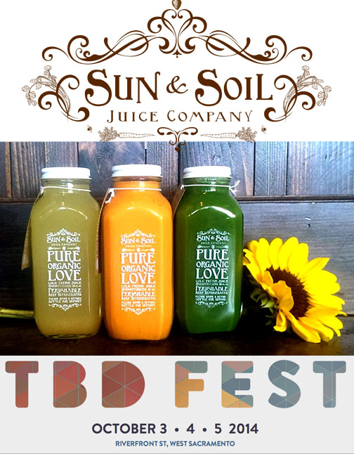 sun and soil organic juices will be at the October 2014 Launch TBD Music festival